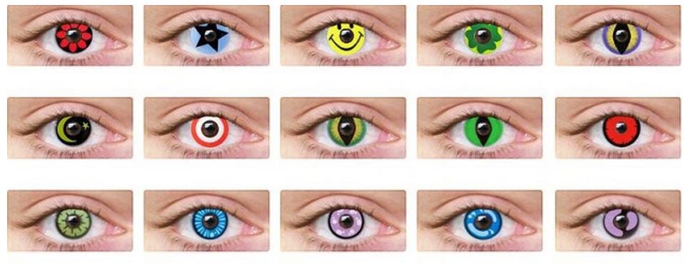 Обычные цветные линзы для глаз