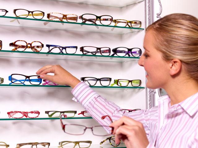 Витрина с очками